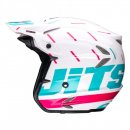 Jitsie Helm HT2 Domino - White/Teal/Purple