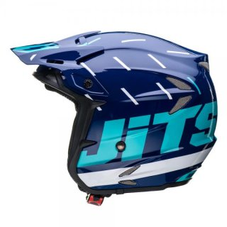 Jitsie Helm HT2 Domino - Navy/Teal/White
